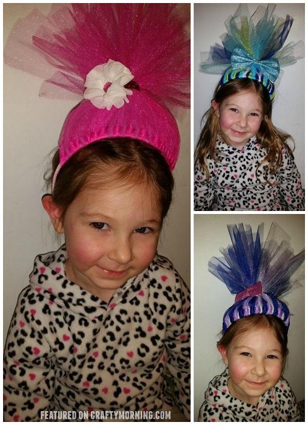 DIY Tulle Troll Headbands Crafty Morning