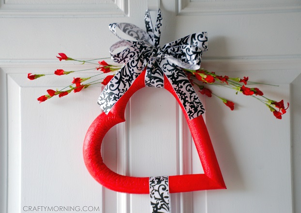 Triple Foam Heart Wreath For Valentines Day Crafty Morning