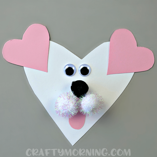 Valentines Day Heart Shaped Animal Crafts For Kids