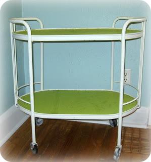 Amy Kroetsch's wallpapered cart, after photo