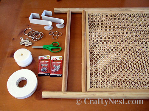 Supplies for making a fashion accessories valet, photo