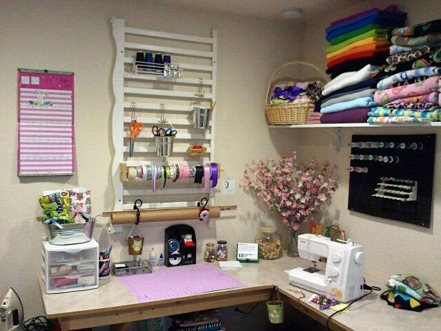 Jessica Ripley's wall craft organizer, photo