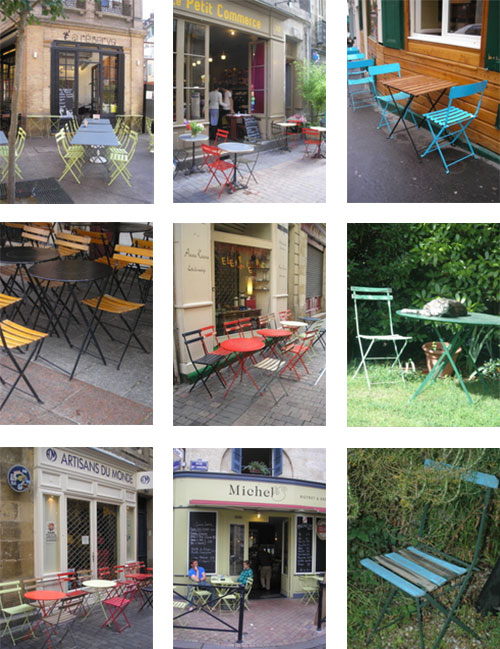 Cafe chairs in coffee shops and gardens, photo