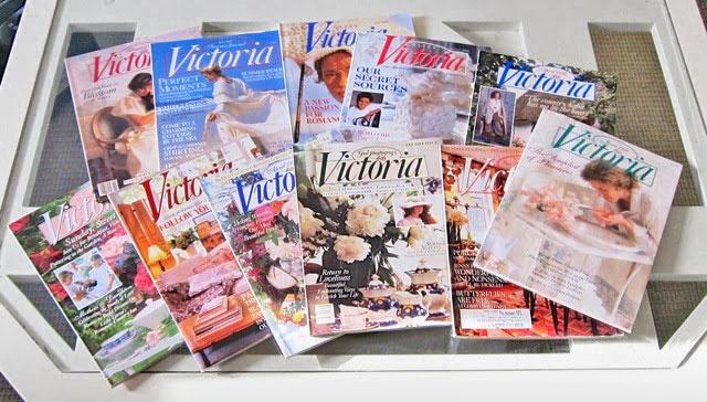 Victoria magazines spread on a coffee table, photo