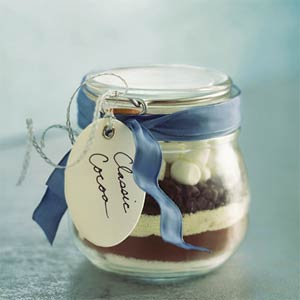 Classic cocoa in a jar, photo