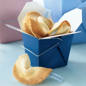 Fortune cookies in a box, photo