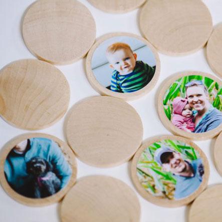 DIY photo memory match game, photo