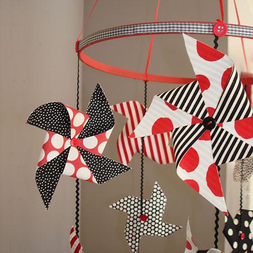 DIY fabric pinwheel, photo