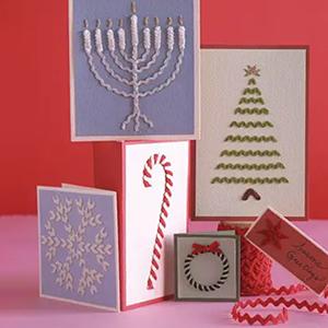 Rick rack holiday cards, photo