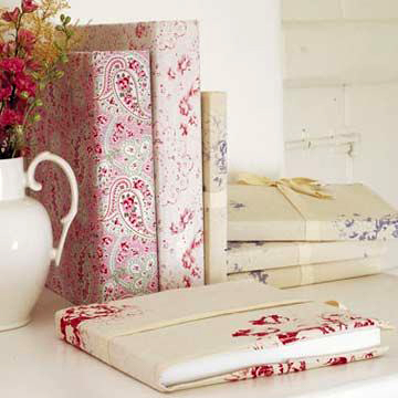 Fabric covered journals, photo