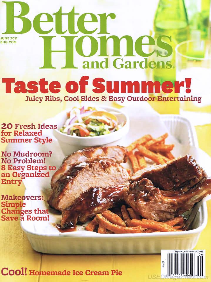 Better Homes & Gardens magazine June 2011 cover, photo
