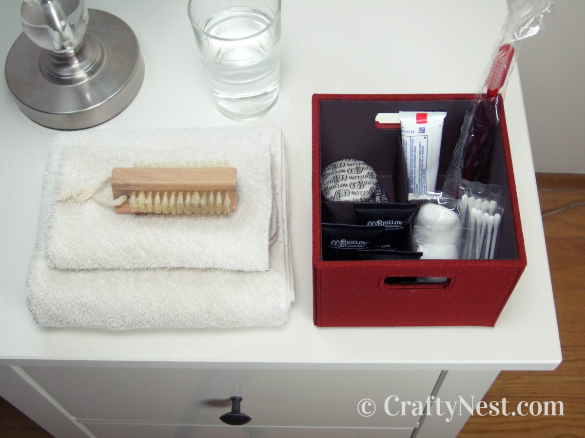 Open Bento Box with guest amenities, photo