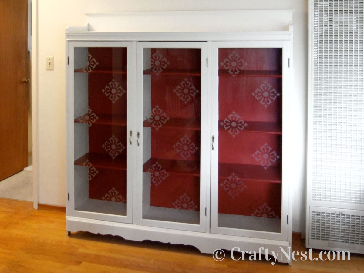 Frosted stenciled pattern on glass doors, photo