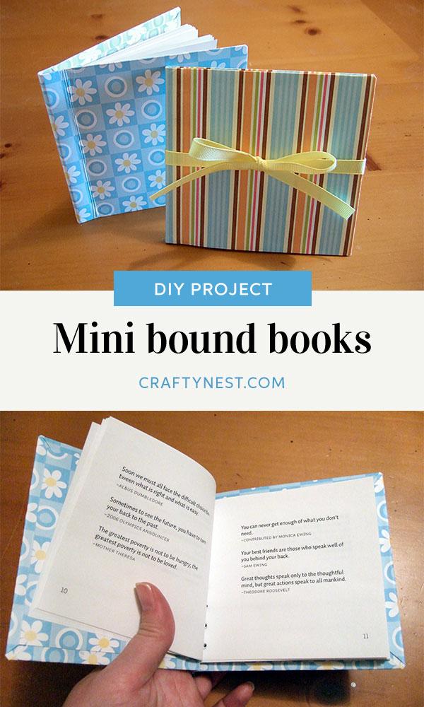 Crafty Nest mini bound books Pinterest photo