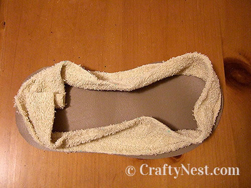Sew the sides to the sole, photo