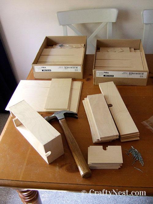 Assembling the Ikea Fira drawers, photo