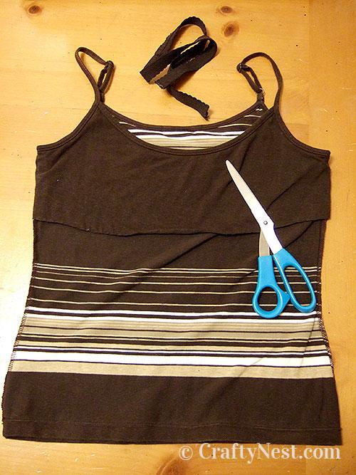Cut off elastic bra liner, photo