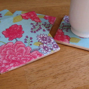 Curbly's tile coasters, photo