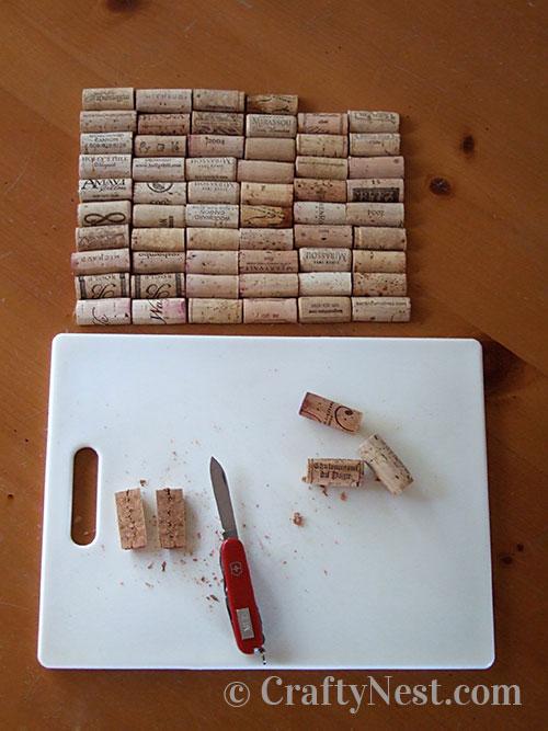 Cutting the wine corks, photo