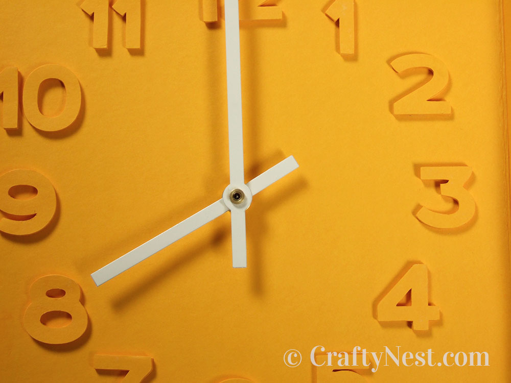 Close-up of the clock face, photo