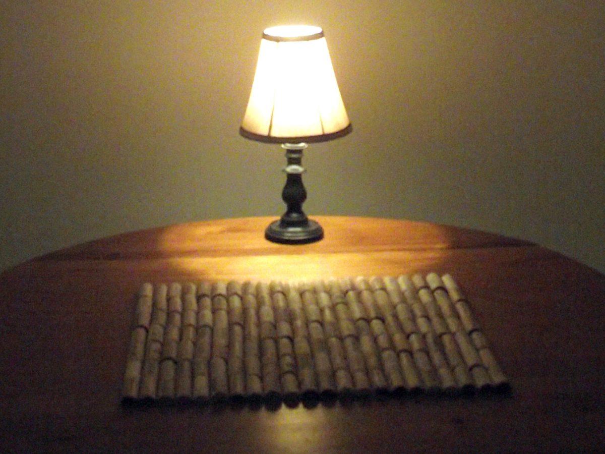 Lynn's wine cork bath mat, photo