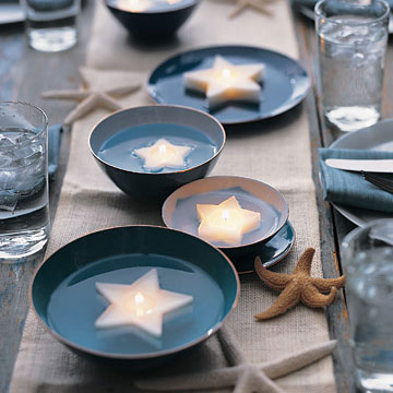 Martha Stewart's floating candles, photo