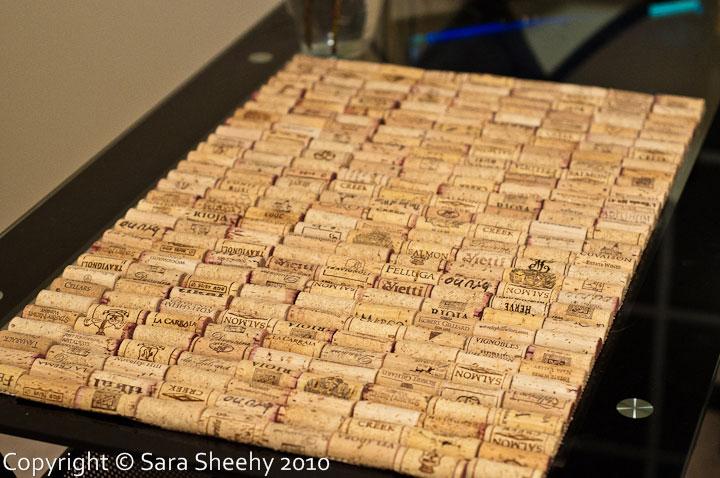 Sara Sheehy's wine cork bath mat, photo