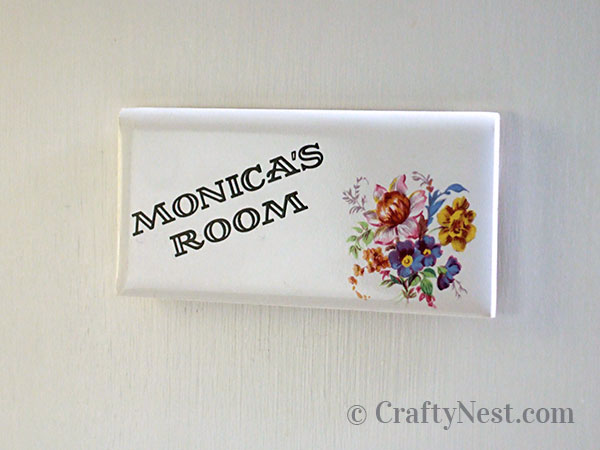 My vintage door name plate, photo