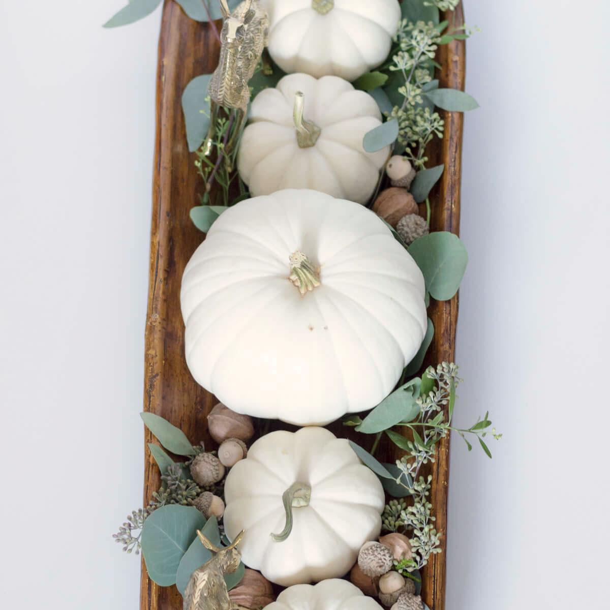 White pumpkin centerpiece, photo