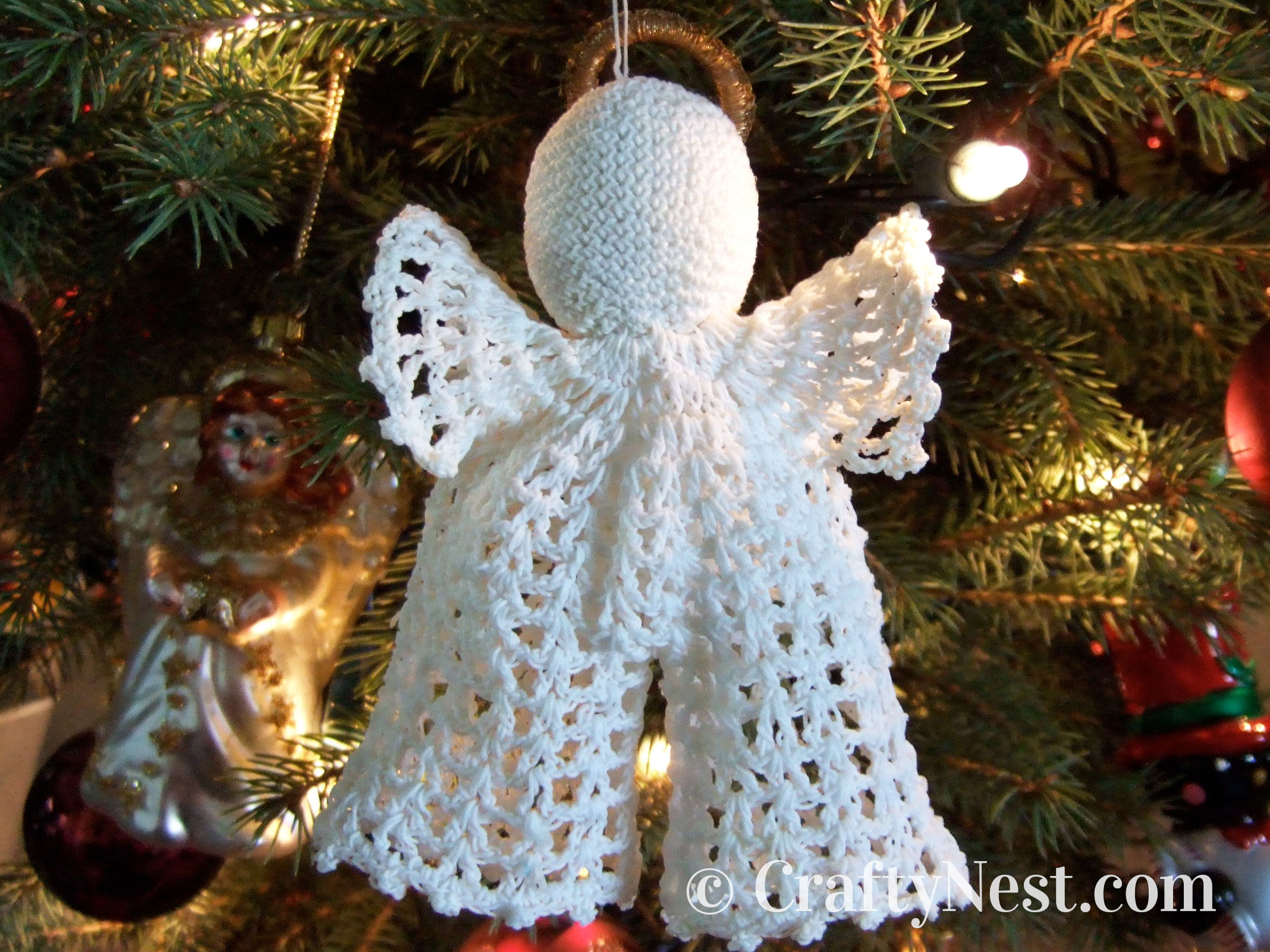Angel Christmas tree ornament with pants, photo