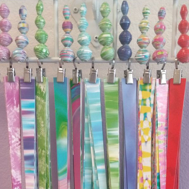 Rolled paper beads, photo