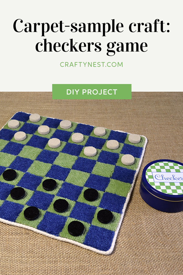 Crafty Nest carpet sample checkers game Pinterest photo