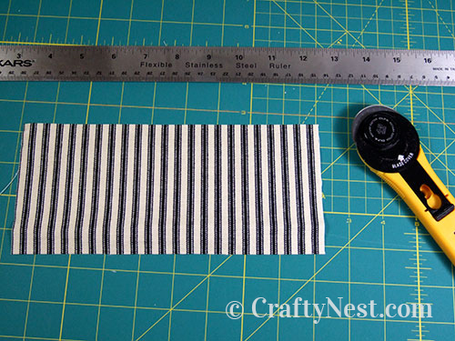 Cut a piece of fabric, photo