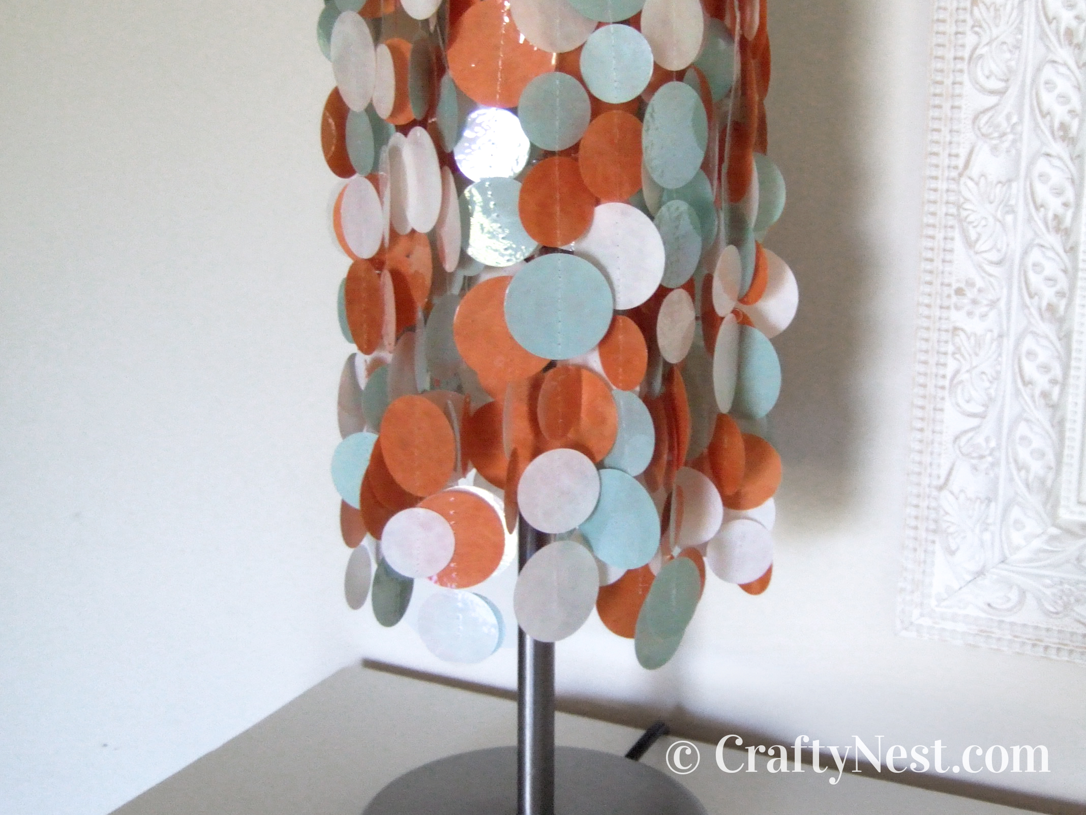 Colorful, funky lampshade, photo