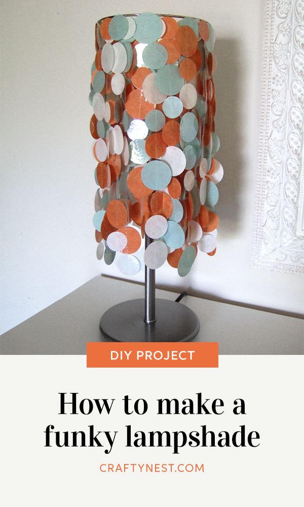 Crafty Nest colorful, funky lampshade Pinterest image