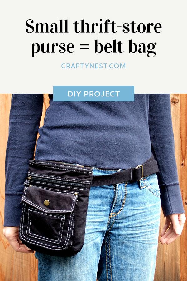 Crafty Nest small purse belt bag Pinterest image
