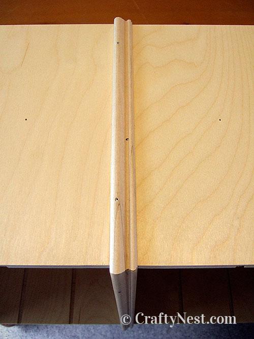 Glue on molding piece, photo