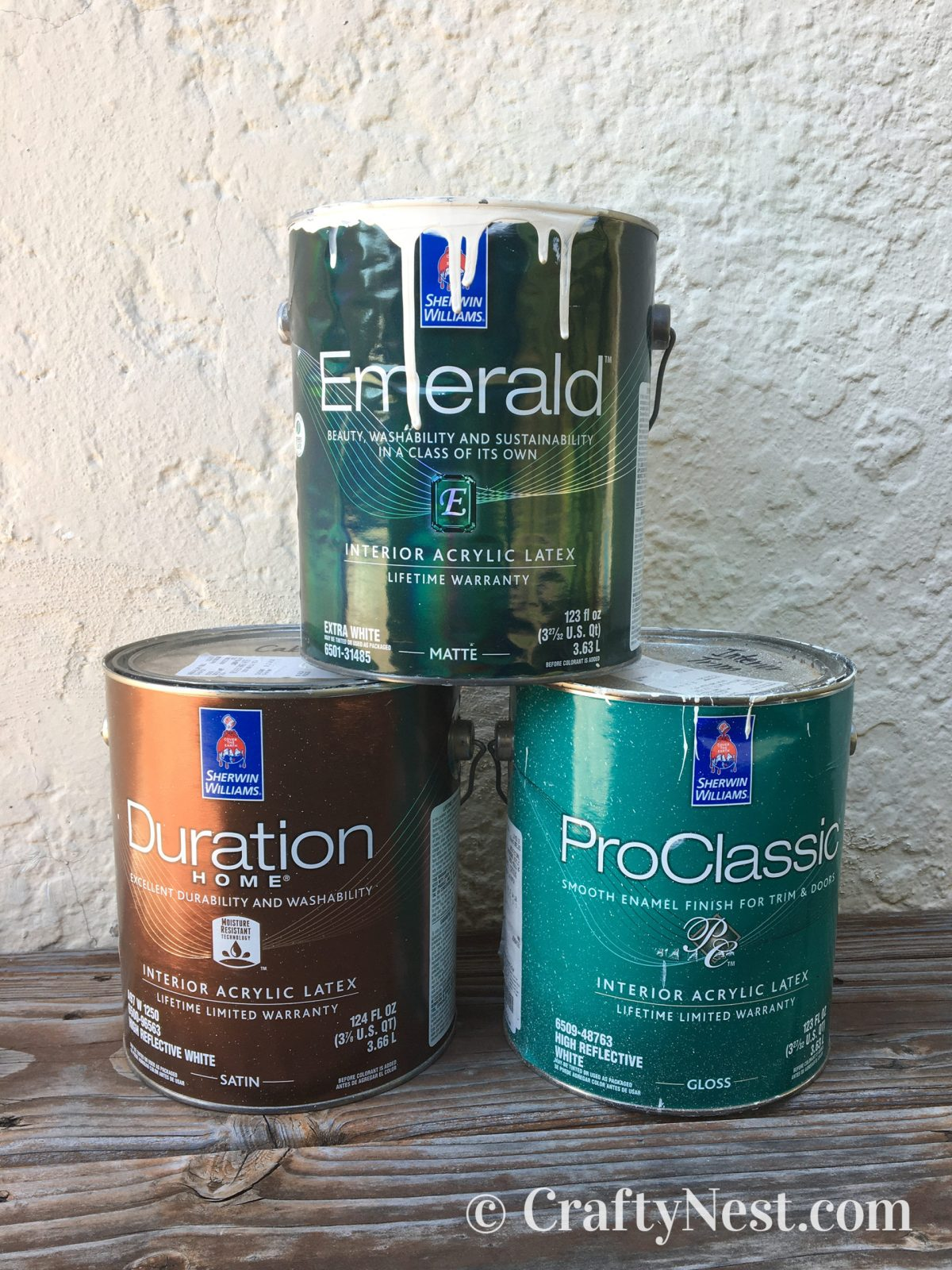 Sherwin-Williams paint cans, photo