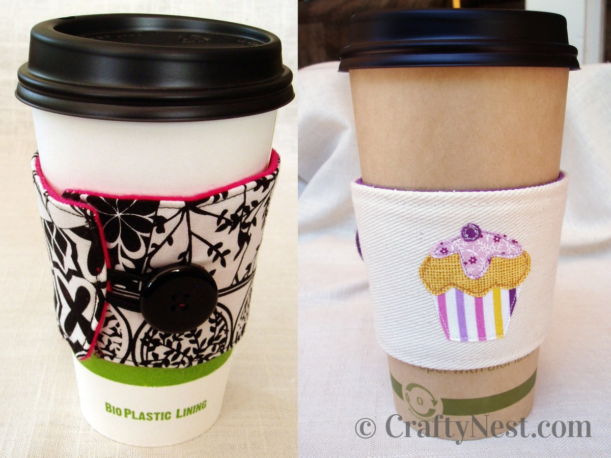 Isabela's fabric coffee sleeves, photo