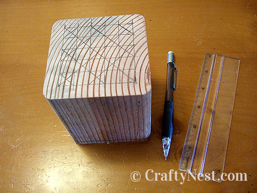 Measure and draw your pattern, photo