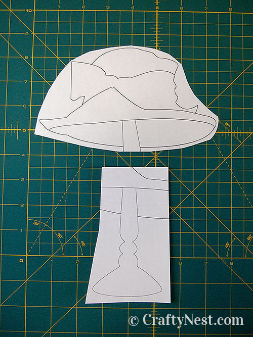 Cut out the patterns, photo