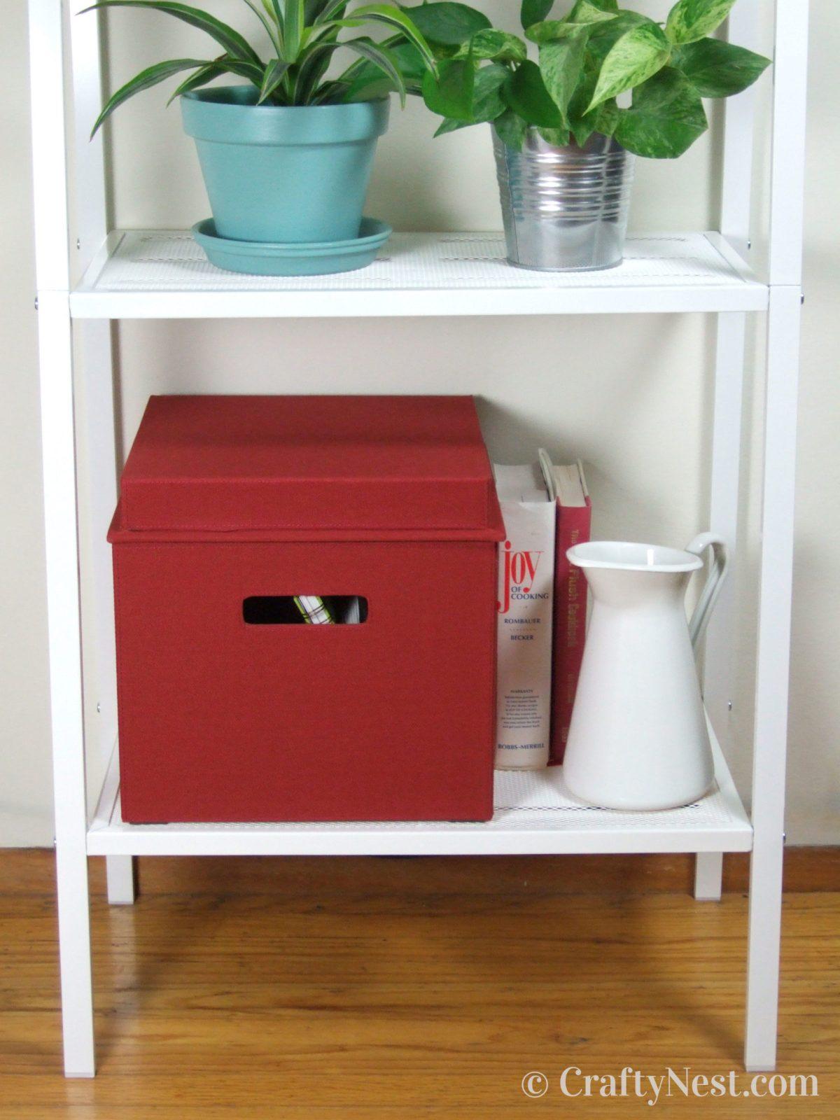 Closed Bento Box on a shelf, photo