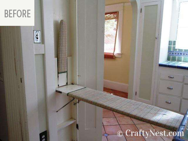 Ironing board in the wall, photo
