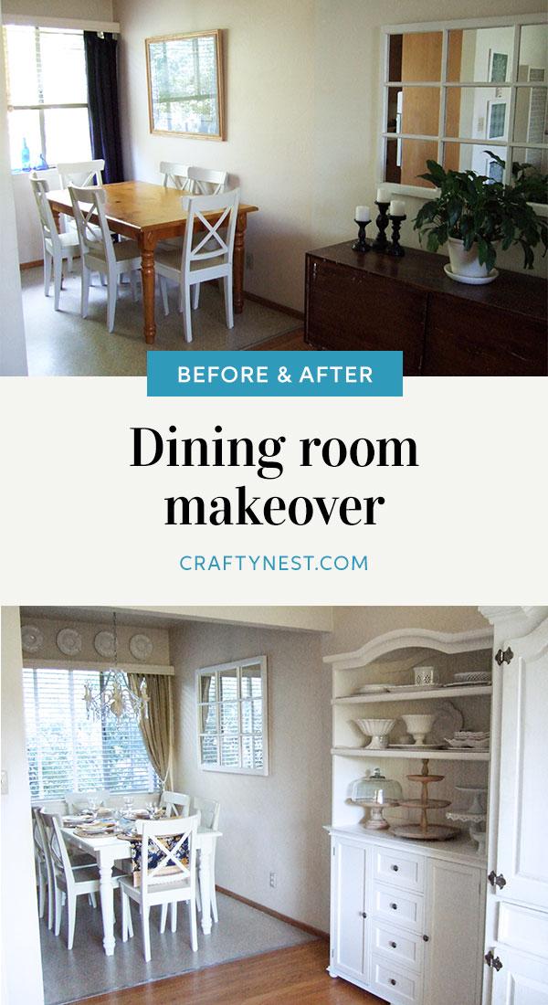 Crafty Nest dining room makeover Pinterest image