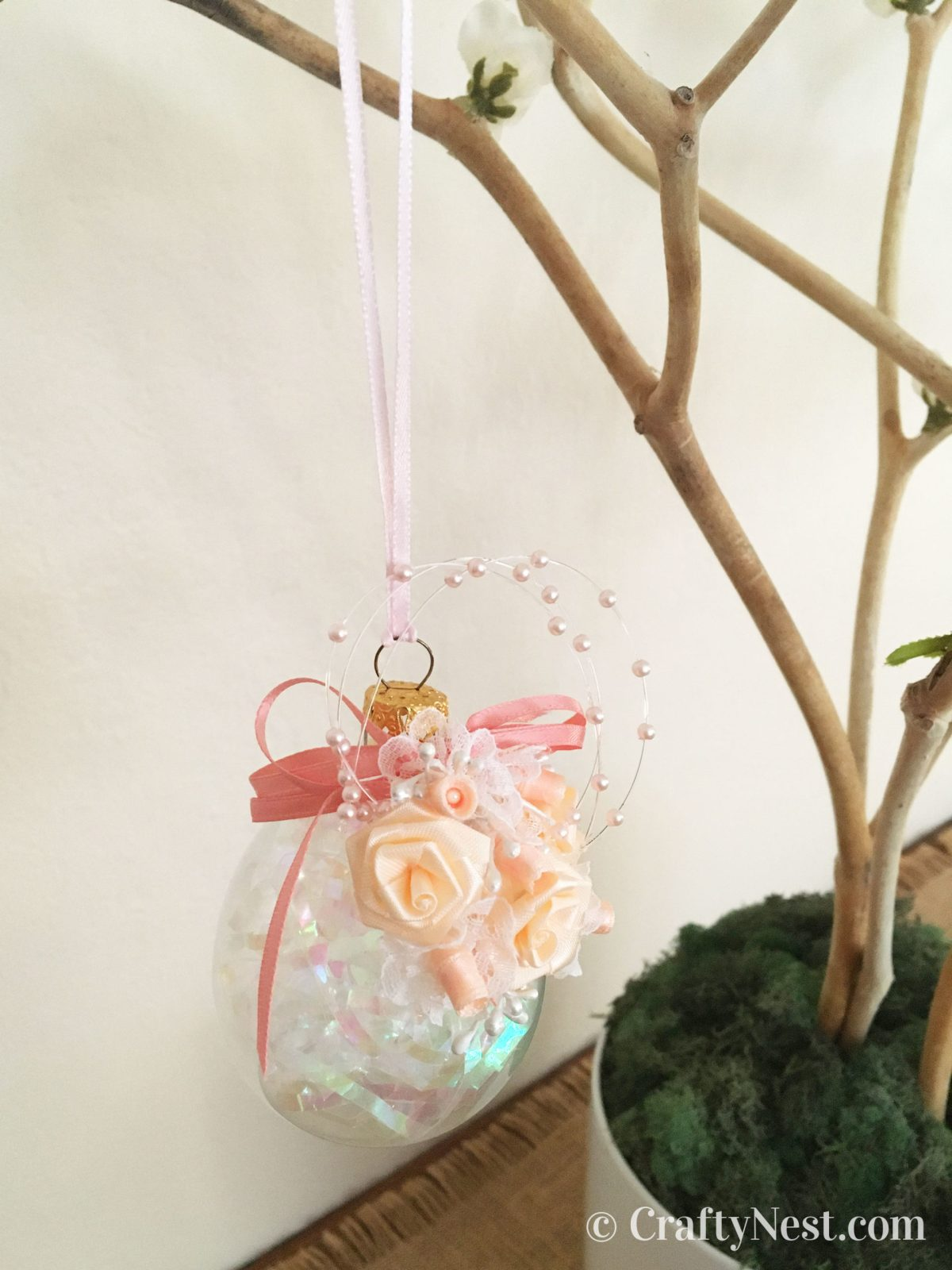 Close up of an Easter egg ornament, photo
