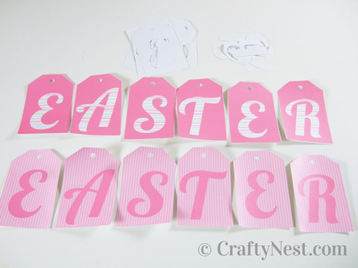 Both sides of the Easter tags, photo