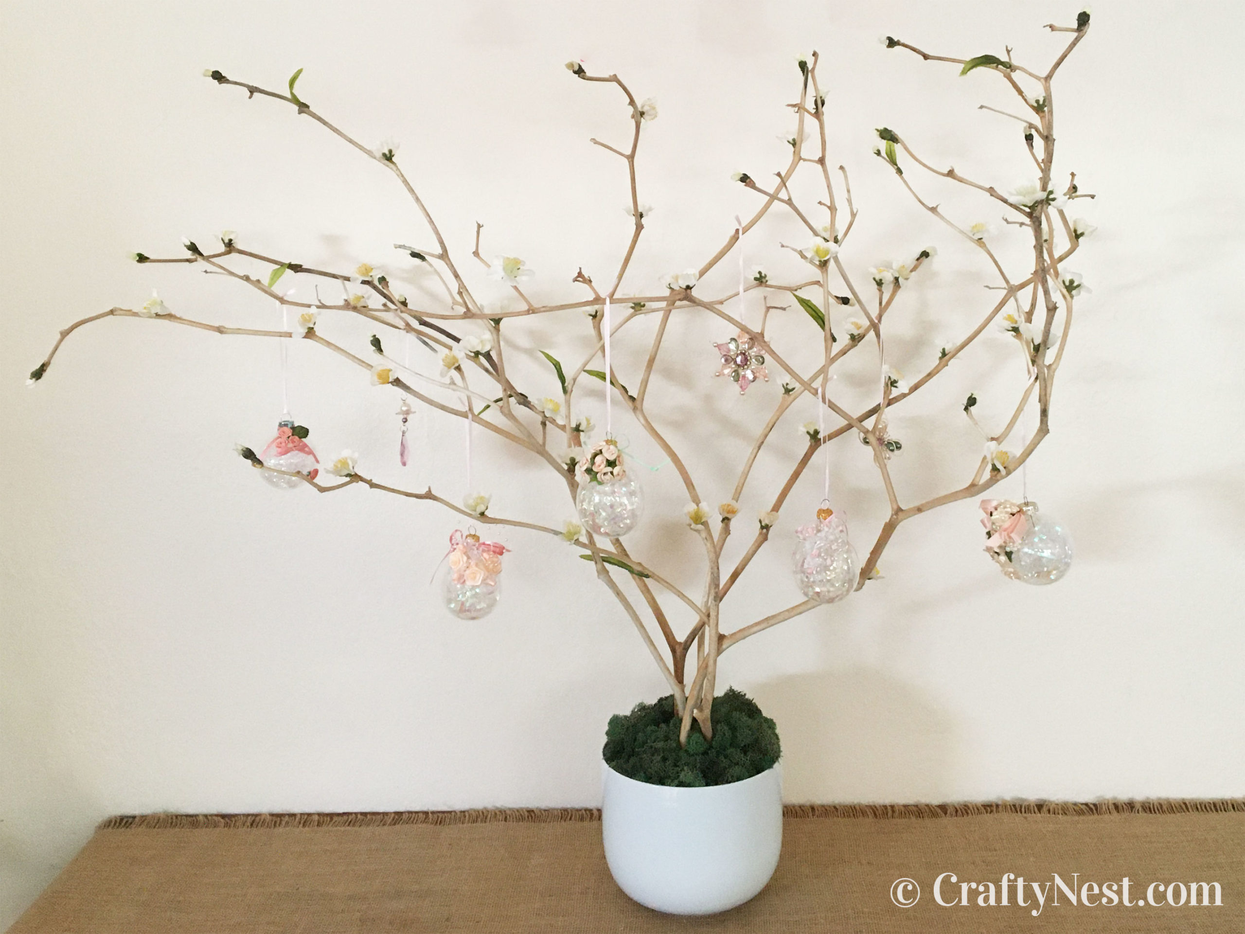 Easter tree in a pot, photo