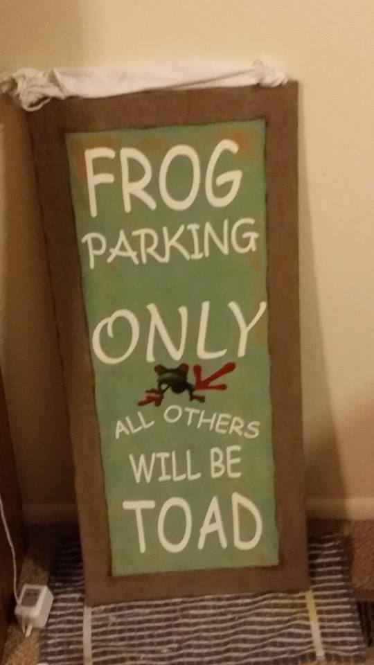 Frog Parking Only is great for anyone who loves frogs. In your download you will receive SVG, JPEG, PDF, and Studio3 files.  Create a beautiful sign and add it to your garden or personal sanctuary. Find a t-shirt, coffee mug or canvas to add this fun design to.