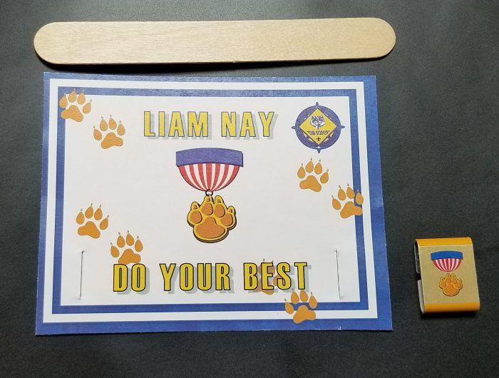 Printable Cubscout Belt Loop Certificate for Lions
