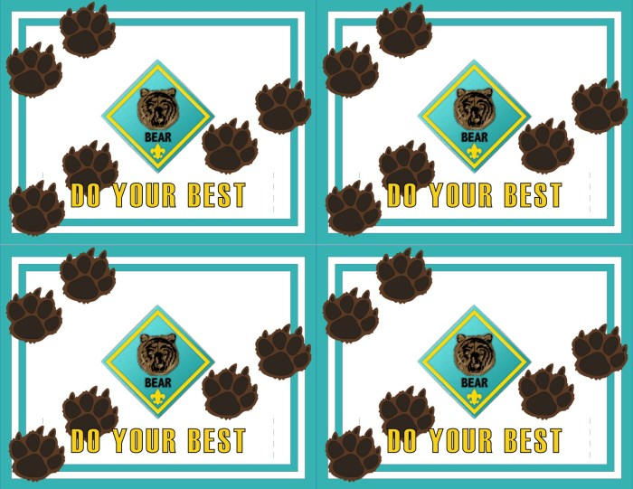 Cub Scout Lion Award Certificate for Belt Loops-Free Printable. We wanted a solution for presenting the awards to the kids that was quick and simple and this is what we came up with. You are welcome to use them however you choose.  We also have free printables for Bobcat and Bear and more coming soon.
